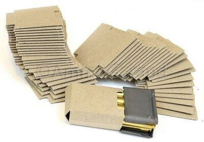 50ea M1 8rd Garand Clip Cardboard Bandoleer Inserts for 8 Round Rd Clips