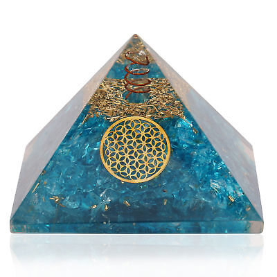 EXTRA LARGE (70-75mm) Apatite Stone ORGONE GEMSTONE PYRAMID Heling Energy