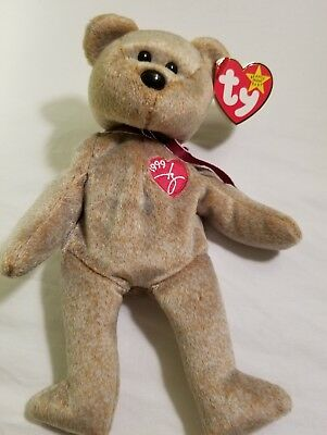 TY Beanie Baby 1999 Signature Bear ~MINT condition~