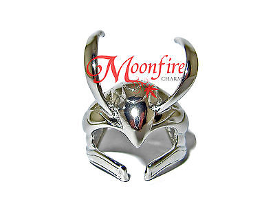 Loki Helmet Silver Ring Silver Plated God Of Mischief The Avengers Quality!!
