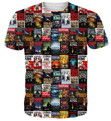 New Women/Men Stephen King Horror Movie IT Funny 3D Print Casual T-Shirt