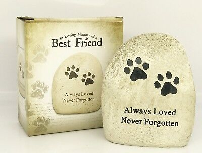 Dog Memorial Stone loss of pet for grave 'Always loved Never Forgotten'