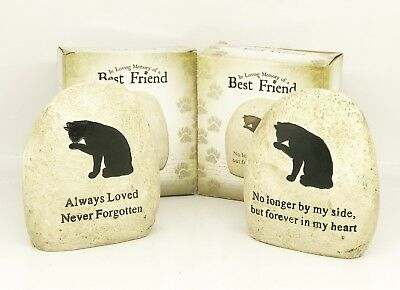 Cat Memorial Stone loss of pet for grave 'Always loved ... & No Longer by my sid