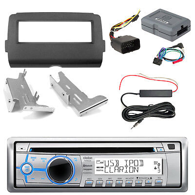 Clarion M303 Radio + Kit, Handle Bar Controls, Antenna Kit (2014-Up Harley)