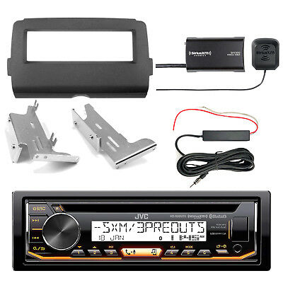 JVC KDR99MBS Bluetooth Radio + Kit, SiriusXM Tuner, Antenna Kit (2014-Up Harley)