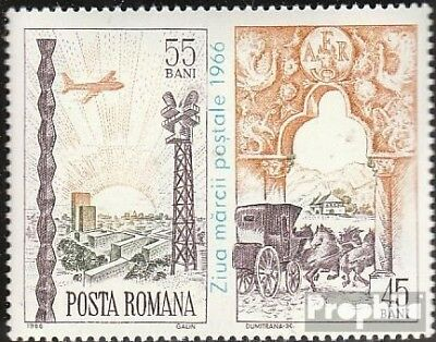 Romania 2552 with zierfeld (complete issue) unmounted mint / never hinged 1966 D