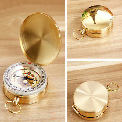 Brass Pocket Watch Style Military Army Compass Camping Hiking Sports Antique