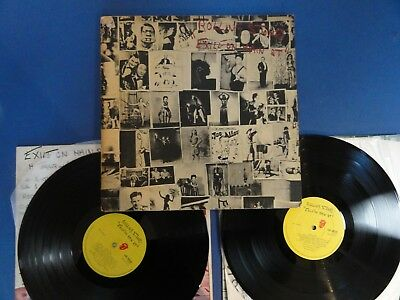 ROLLING STONES  EXILE ON MAIN ST RS 72 A2B1 UK orig 2xLP 	EX