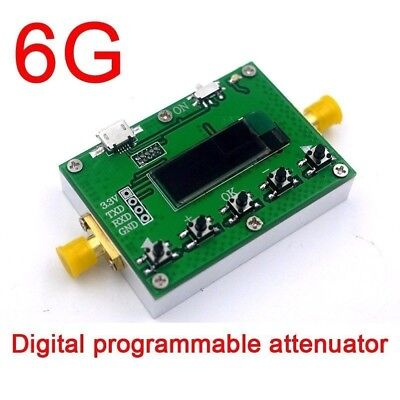 OLED display 6G Digital programmable attenuator 30DB step 0.25DB RF module