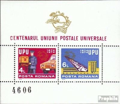 Romania block112 (complete issue) unmounted mint / never hinged 1974 100 years U
