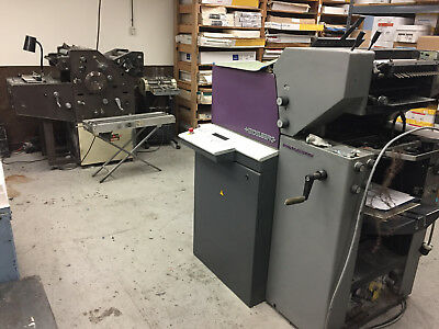 Heidelberg Quick Master qm46 and AB Dick 2 color with envelope conveyor and feed