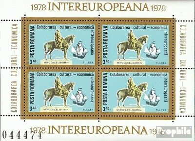 Romania block152 (complete issue) used 1978 INTEREUROPA