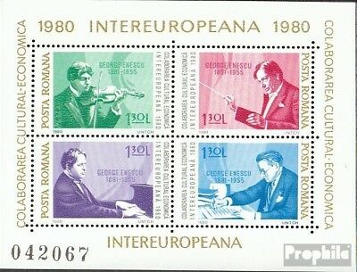 Romania block169 (complete issue) used 1980 INTEREUROPA