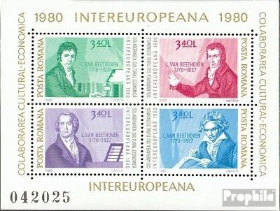 Romania block170 (complete issue) unmounted mint / never hinged 1980 INTEREUROPA