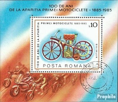 Romania block217 (complete issue) used 1985 Motorcycles