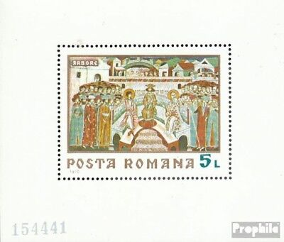 Romania block76 (complete issue) used 1970 Frescoes
