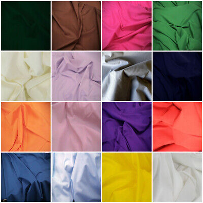 """SHEETING Poly Cotton Fabric 240cm 94"""" sold by the metre lots of colours"""