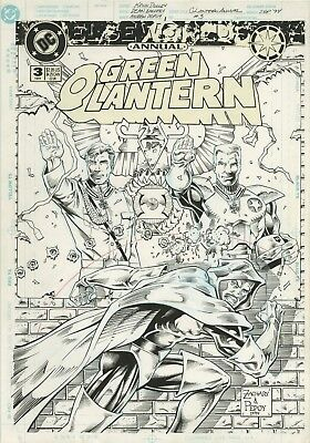 Green Lantern Annual 3 Cover Original Comic Art Published Zachary Pepoy 1994