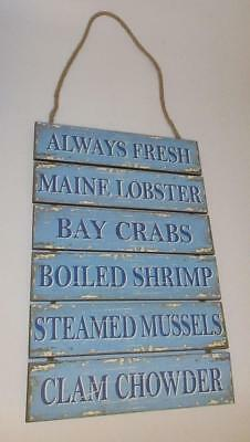 Seafood Market Sign Lobster Crab Shrimp Mussels Clam Chowder Seafood Restaurant