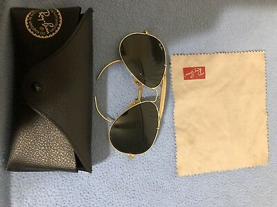 2c60e0a93953 ... greece vintage ray ban sunglasses aviator bl bausch and lomb usa gold  rayban brow bar bc027