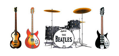 The Beatles' gear from the 1965 Shea Stadium concert Greeting Card, DL size