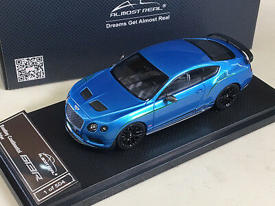 Almost Real 1/43 2015 Bentley Continental GT3-R  KINGFISHER BLUE - ALM430403
