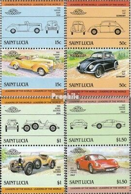 St. Lucia 740-747 Couples (complete issue) unmounted mint / never hinged 1985 Ca
