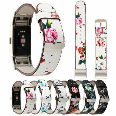 Genuine Leather Replacement Wrist Watch Band Strap Bracelet for Fitbit Charge 2