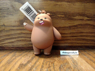 We Bare Bears Figural Keyring Series 1 3 Inch Grizzly Bear