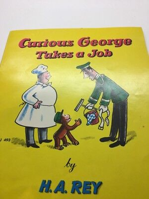 Curious Gearge Takes A Job By H.a.rey Vintage