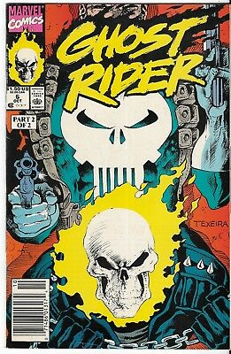 1990 Ghost Rider Issue #6 Marvel Comic Book Bag/board Vg-Mt Vintage Rare