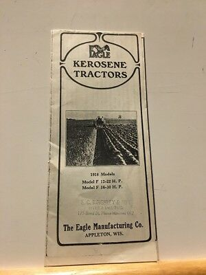 Eagle Tractors Models F 12-22 F 16-30 Brochure Copy Appleton Wi DB