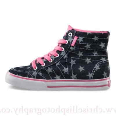 yet not vulgar good service huge discount VANS CORRIE HI Stars Navy Pink High Top Kids Missy Size 11 ...