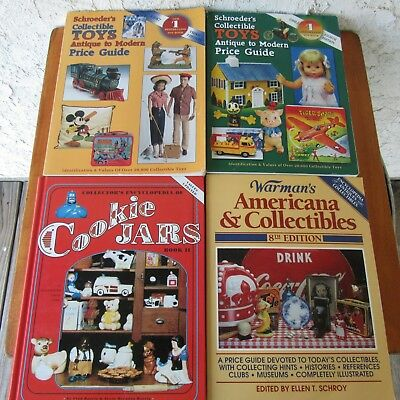 Cookie Jar Americana & Collectibles Identification Guide Book Lot of 4 Toys +++