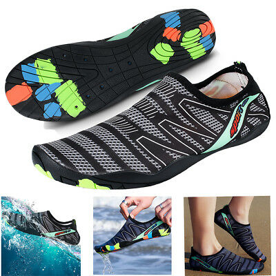 01e21a8d0e1ec US Men Water Shoes Barefoot Aqua Socks Quick-Dry Beach Swim Sports Exercise  Surf