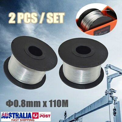 2 Pcs 0.8mm 110M Rebar Tier Building Tying Machine Wire Coil Strapping 8-34mm
