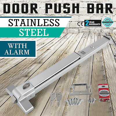 Door Push Bar /Alarm Panic Exit Device Lock Emergency Commercial Heavy Duty