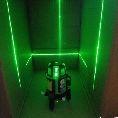 5 Lines 20 Times Green Light 360° Laser Level Outdoor Horizontal & Vertical Set