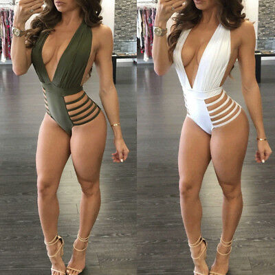 Fashion Womens One-piece Swimsuit Swimwear Push Up Monokini Bathing Suit Bikini