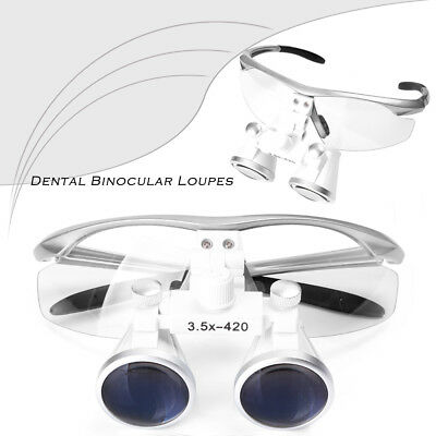 3.5X420mm Dental Loupes Surgical Glasses with LED Head Light Lamp
