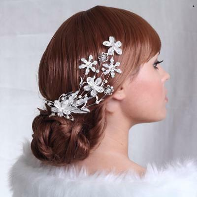 Elegant Flower Headpieces with Comb Wedding Pageant Party Hair Accessories