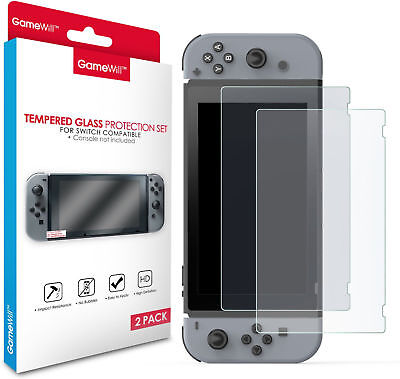 2 X Gamewill Premium Nintendo Switch Tempered Glass Screen Protector Not Nuglas