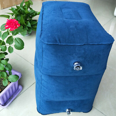 Inflatable Travel Cushion Foot Rest Pillow Leg Relax Pad