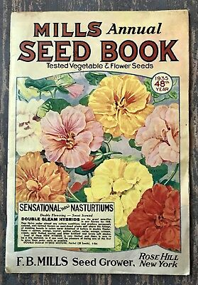 Vintage Mills Annual Seed Book 1935 FB Mills Rose Hill New York