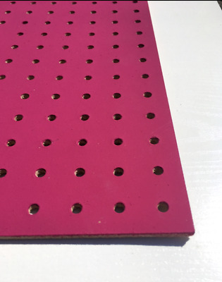PINK Painted Wooden Pegboard / Display Board 600 x 600 x 6mm