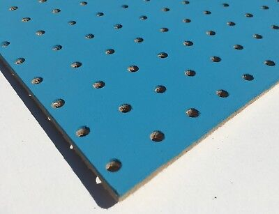 BLUE Painted Wooden Pegboard / Display Board 600 x 300 x 6mm