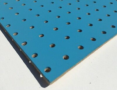BLUE Painted Wooden Pegboard / Display Board 1200 x 300 x 6mm