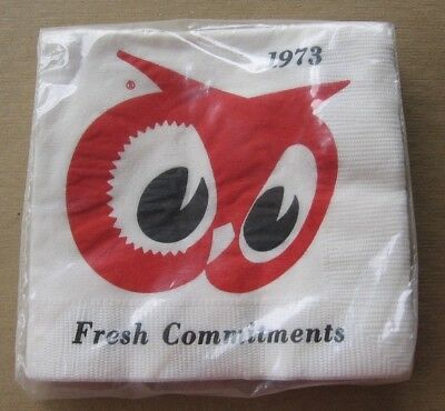 Vintage Red Owl Grocery Store 1973 New Year Fresh Commitments Napkins~Green Bay