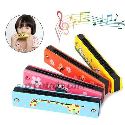 New Wooden Harmonica Kids Musical Instrument Mouth Organ Educational Toy Gift AU