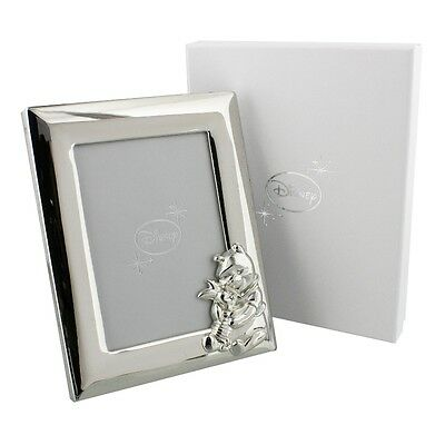 """Disney Winnie the Pooh Silver plated Photo Frame 3.5x5"""" NEW in Gift Box"""